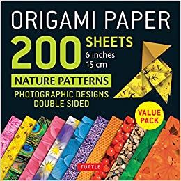 Origami Paper 200 Sheets Nature Patterns 6 15 Cm Stationery Amazon