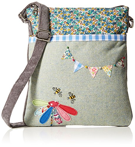 with Blue Multi Handbag Natural Applique Browns Joe Details Womens Fabric w0axPpzqI