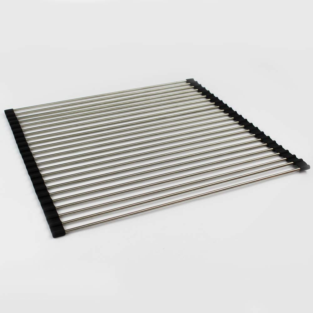 Transolid TRM1818 Roller Mat Trivet, 18.11-in L x 18.39-in W x 0.31-in H, Stainless Steel