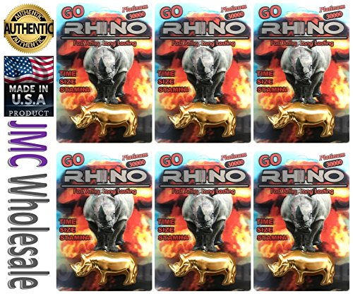 Rhino Best Sexual Male Performance Enhancement Pill Variety Pack (6pill GoToy Gold) (Gold 6 Go)