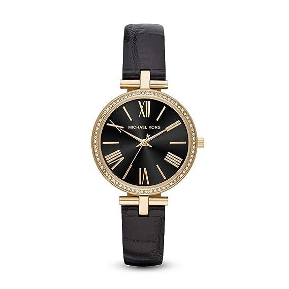 Michael Kors Reloj Analógico para Mujer de Cuarzo con Correa en Cuero MK2789