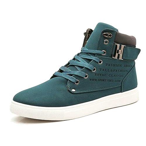 Minetom Casual Sneaker Hombres Plataforma Zapatos De Cómodos Alpargatas Zapatillas Estampado Inglés Hebilla Otoño Invierno: Amazon.es: Zapatos y ...