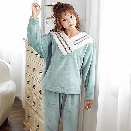 9a091c0fabd01 Camicie da notte Pigiama casa Carino Vestiti per la casa Pigiama Spessa  Caldo Maniche Lunghe può