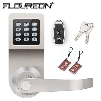 4 en 1 – Cerradura electrónica para puerta mediante tarjeta de código, RF, mando