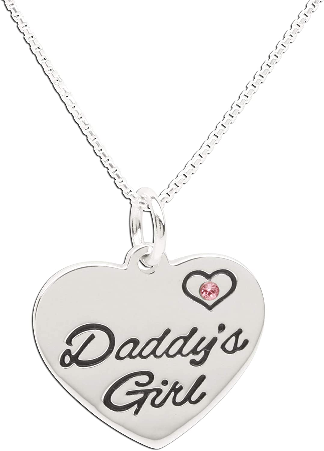 Beautiful Daddys Little Girl Heart Shaped Necklace Pendant Claddagh Gold CM2253WH-Pendant-10k