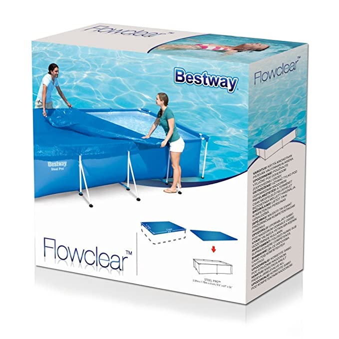Bestway 58105 Cobertor Piscina Rectangular, Azul, 259 x 170: Amazon.es: Jardín