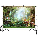 MEHOFOTO Photo Backgroud Cartoon Fairy Tale Forest Birthday Party Decoration Backdrops for Photography 7ftx5ft