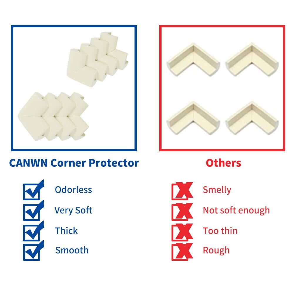 Girlslove talk 12 Pack Table Corner Protectors for Kids,Foam Child Safety Corner Protectors,Extra Thick Baby Safety Corner Protection(White)