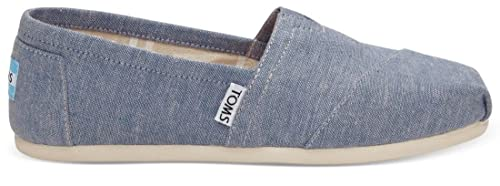 Toms Classic Blue Slub Chambray Womens Canvas Espadrilles Shoes-3