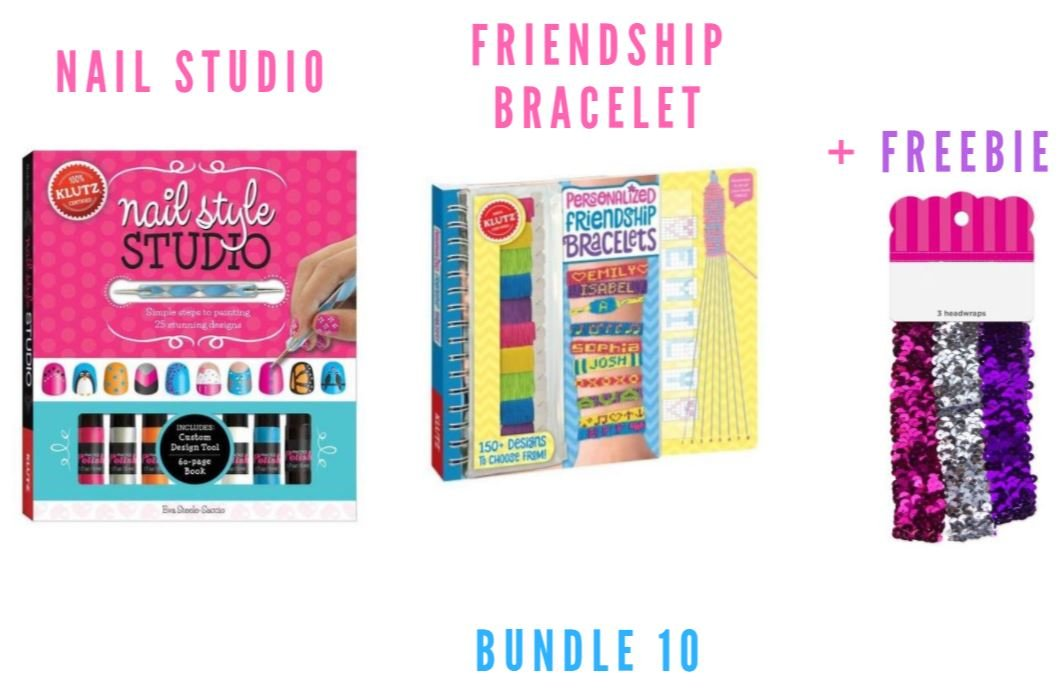 Amazon.com: Klutz Nail Style Studio Book Kit (Bundle 10 + Freebi ...