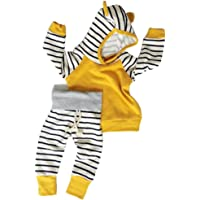 Aliven Baby Boys' Long Sleeve Hooded Tops + Leggings Trousers Outfits Set