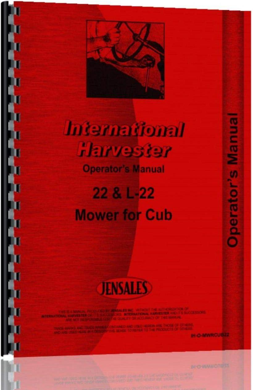 Farmall Cub Tractor 22 Sickle Bar Mower Operators Manual