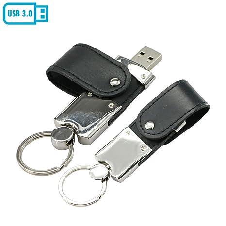 64GB Cuero de la PU de USB 3.0 USB Flash Drive Llavero ...