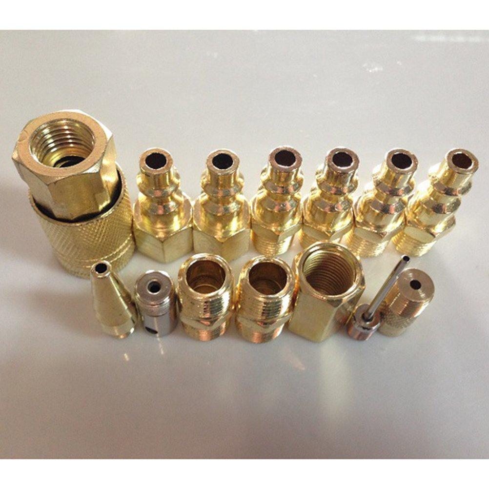 Yardwe Kit de Accesorios de Accesorios neum/áticos de Pistola de Aire comprimido de compresor de Aire comprimido de 17 Piezas