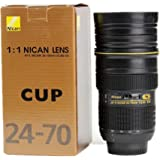 Travel Coffee Mug,NTTR Lens Cup,Camera Lens Cup Coffee Mug Travel Nican Lens 24-70mm Coffee Cup Mug (It's a model CUP, and Not an Actual Lens) Best Camera Lens Stainless Steel Cup/ Mug for Coffee or Tea