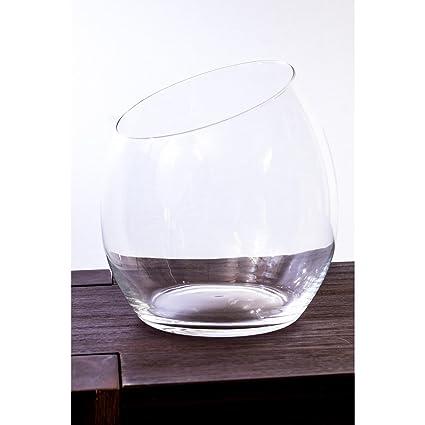 Jarrón esférico de cristal KATE, transparente, 24 cm, Ø 16 cm - Recipiente
