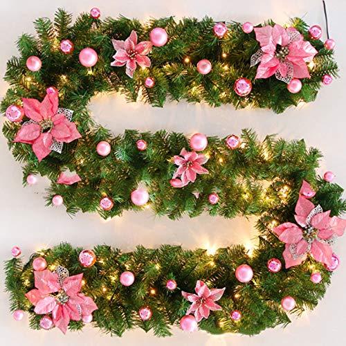 Romote 2.7m 9ft Natale Ghirlanda Palla Garland WreathPine Albero di Natale Decorazioni in PVC 9ft 4 colorHome Artificiale Decorazioni di Natale