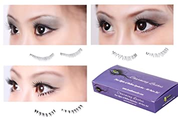 8a4ef8d3791 Amazon.com : Bundle Monster 40 piece Black Reusable False Fake Lower /  Bottom Lid Eyelash Set - 4 Variety Styles - 10 pairs each style : Fake  Eyelashes And ...