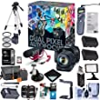 Canon EOS 80D 24.2mp DSLR Camera, Video Creator Kit - Bundle Combo with 18-135mm f/3.5-5.6 IS USM Lens + Rode VIDEOMIC GO Mic + PZ-E1 Power Zoom Adapter + Sandisk 32GB SD Card + 19 More Accessories