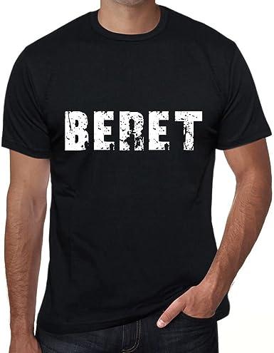 One in the City Beret Hombre Camiseta Negro Regalo De Cumpleaños 00553: Amazon.es: Ropa y accesorios