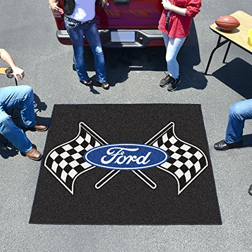 (Fanmats 15861 Ford Flags Tailgater Rug - Black)