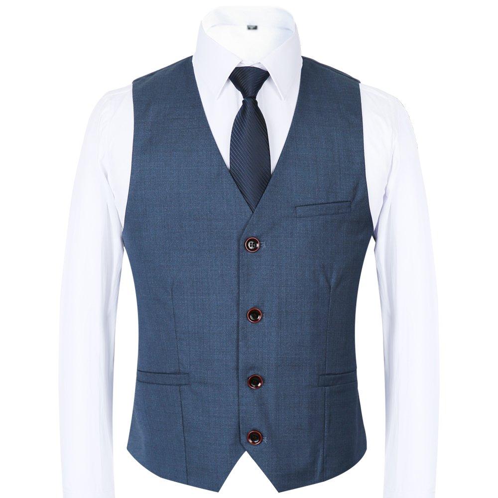 CCXO Men\'s 3 Piece Suit One Button Single-Breasted Notch-Lapel Slim ...