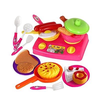 Amazon.com: Juguetes de Cocina Infantil Kids Cooking menaje ...