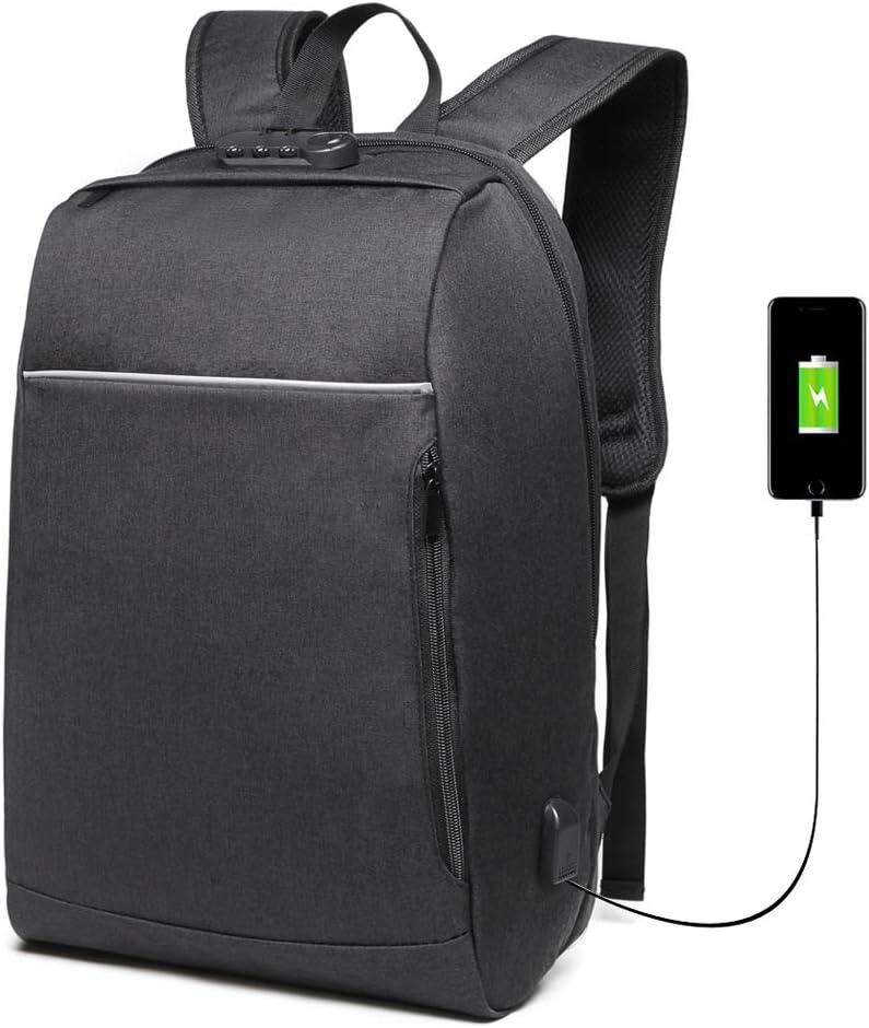 Danny® Business Anti-Theft con gran compartimiento para computadora portátil para hombres, mujeres, mochilas de viaje resistentes al agua Escuela College School Bolsa para computadora para portátil de