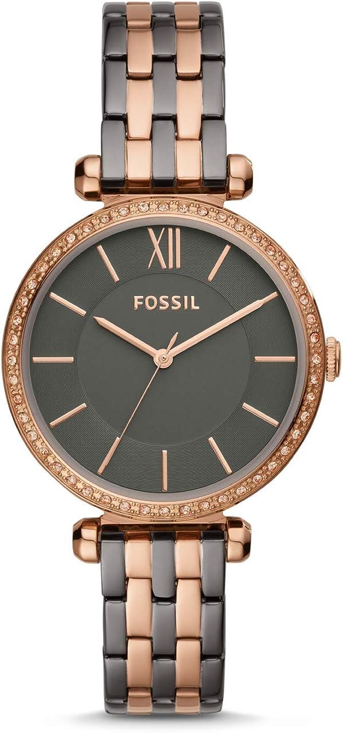 zweifarbig fossil uhr