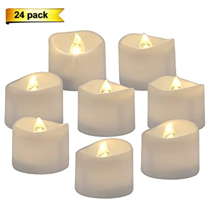 Outdoor Tea Lights Amazon homemory battery operated led tea lights pack of 24 homemory battery operated led tea lights pack of 24 flameless votive tealights candle with workwithnaturefo