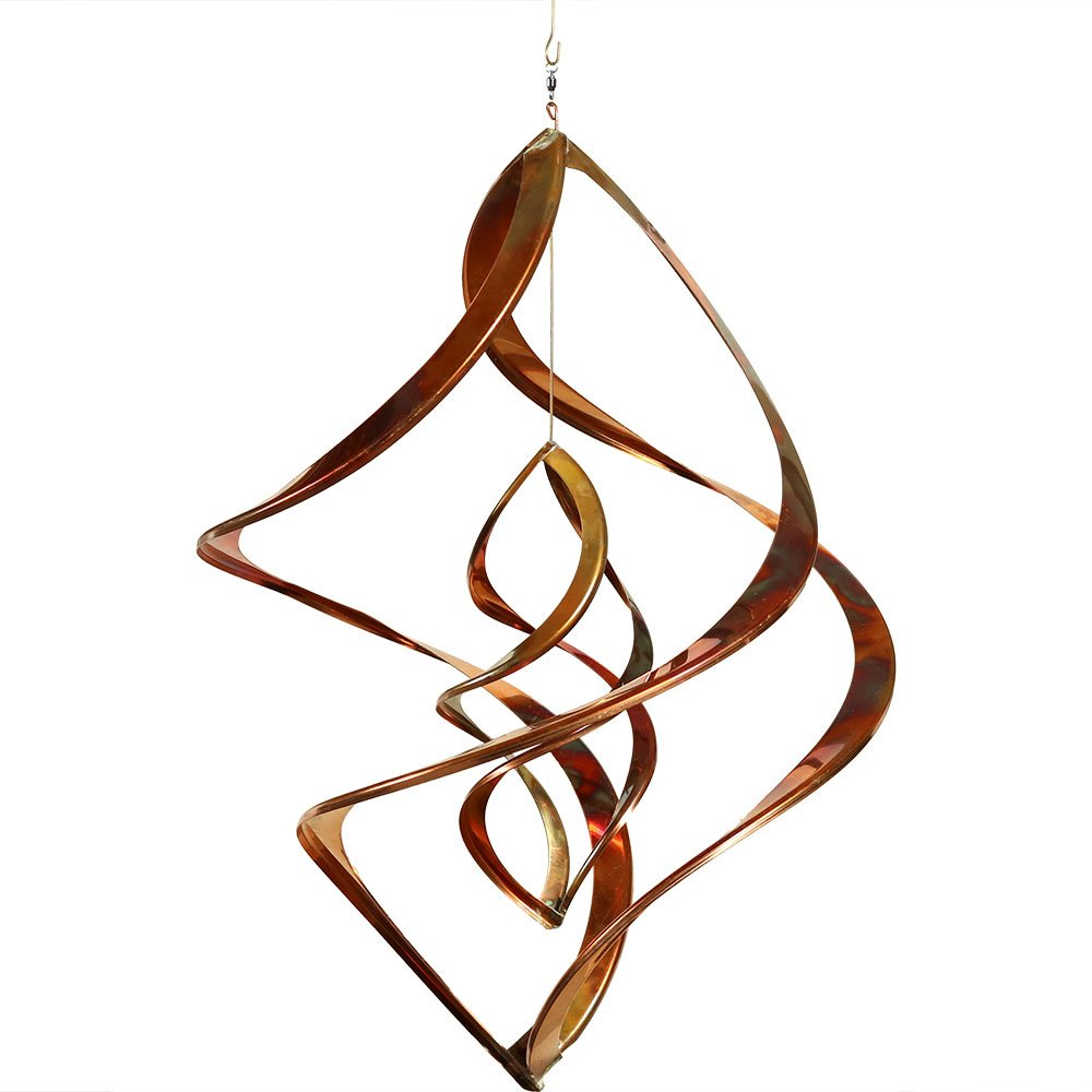 Sunnydaze Double Infinity Copper Wind Spinner, 24 Inch Long by Sunnydaze Decor