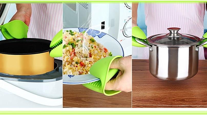 TIANOR 2 Pcs Guante de Cocina de Silicona Pinza para Cocina ...
