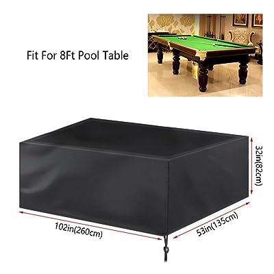 Pool Table Cover Billiard Table Cover Large 8 Ft Snooker Dustproof Waterproof