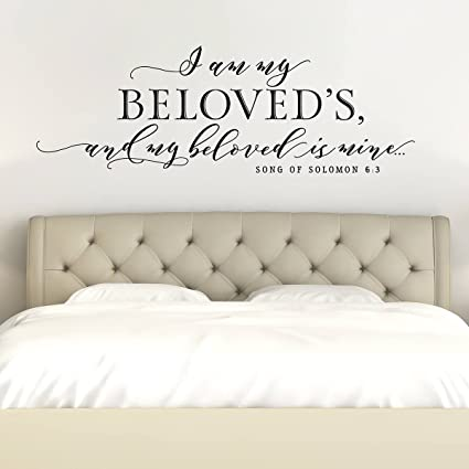 Amazon.com: I Am My Beloved\'S and My Beloved is Mine Master Bedroom ...