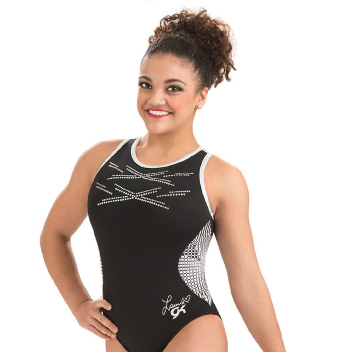 GK Elite Laurie Hernandez Digiglam Leotard Child Medium CM by GK Elite