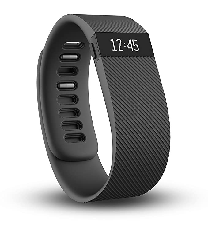 Fitbit Charge Wireless Activity Wristband, Black, Large Activity Trackers at amazon