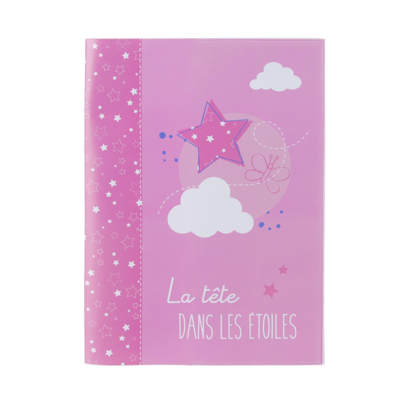 /rosa Funda para cuaderno personalizable/