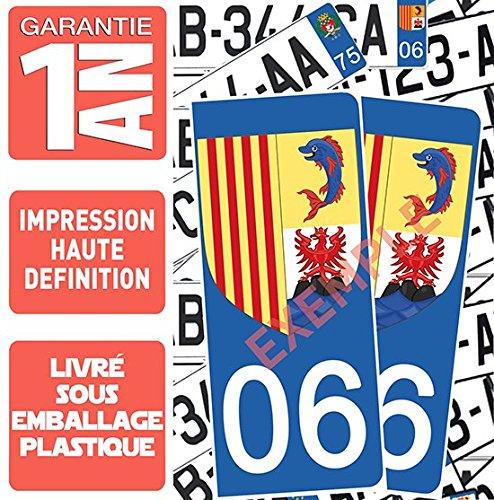 2 St/ück wei/ßer Hintergrund 06 Wappen von Nizza DECO-IDEES Aufkleber f/ür Nummernschild