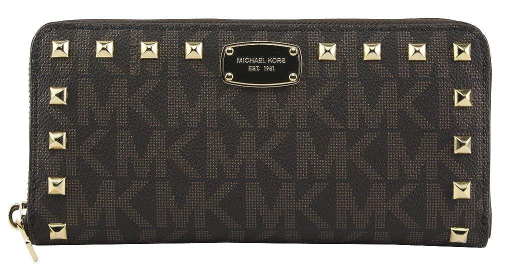 f3a9c7f5b396 Top4: Michael Kors Jet Set Item Studded Zip Around Continental Womens Wallet