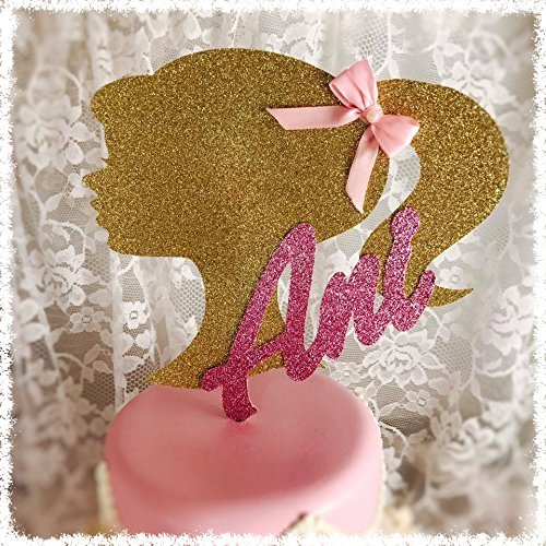 Barbie Birthday Party Cake Topper