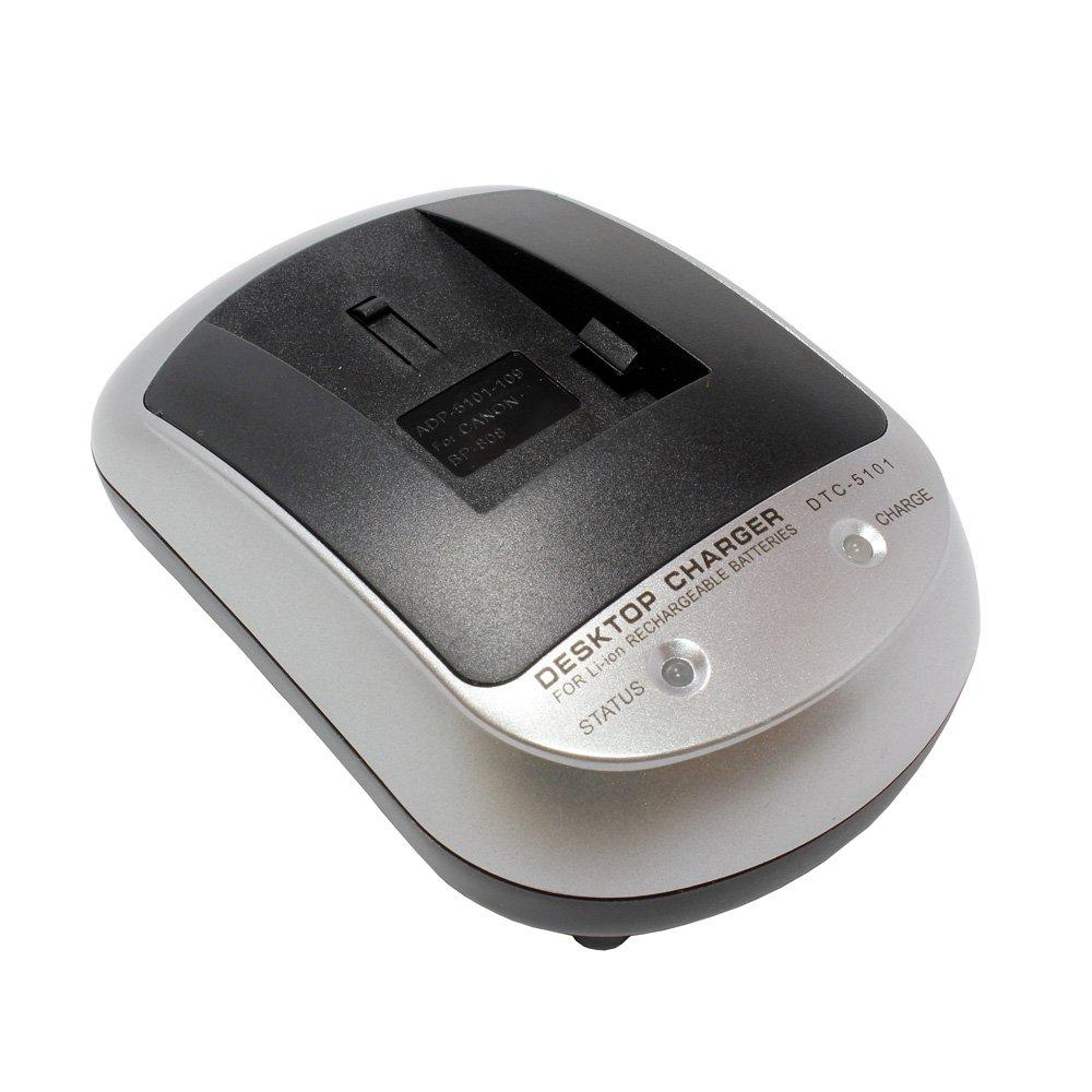 Cargador SET DTC-5101 para Canon LEGRIA FS200: Amazon.es ...