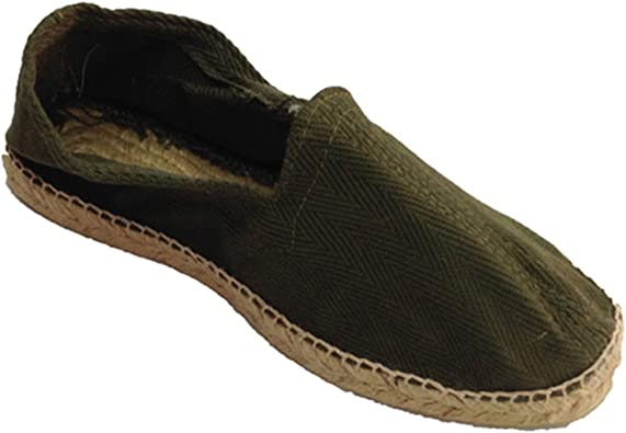 Alpargatas de Esparto Tela de Espiga y Suela de Goma por Debajo Made in Spain en Kaki (Necesario Talla Extra): Amazon.es: Zapatos y complementos
