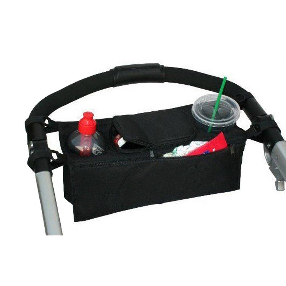 Stroller Organiser, Hinmay Stroller Cooler Thermal Pram Buggy Organizer Storage Bag for Mummy Pram Phone-Flip-Pocket Mobile Phone Holder, Pram Buggy Cart Bottle Bags