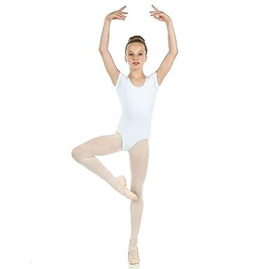 a6a929b70d6 Danzcue Girls Cotton Short Sleeve Ballet Cut Leotard  Amazon.ca ...