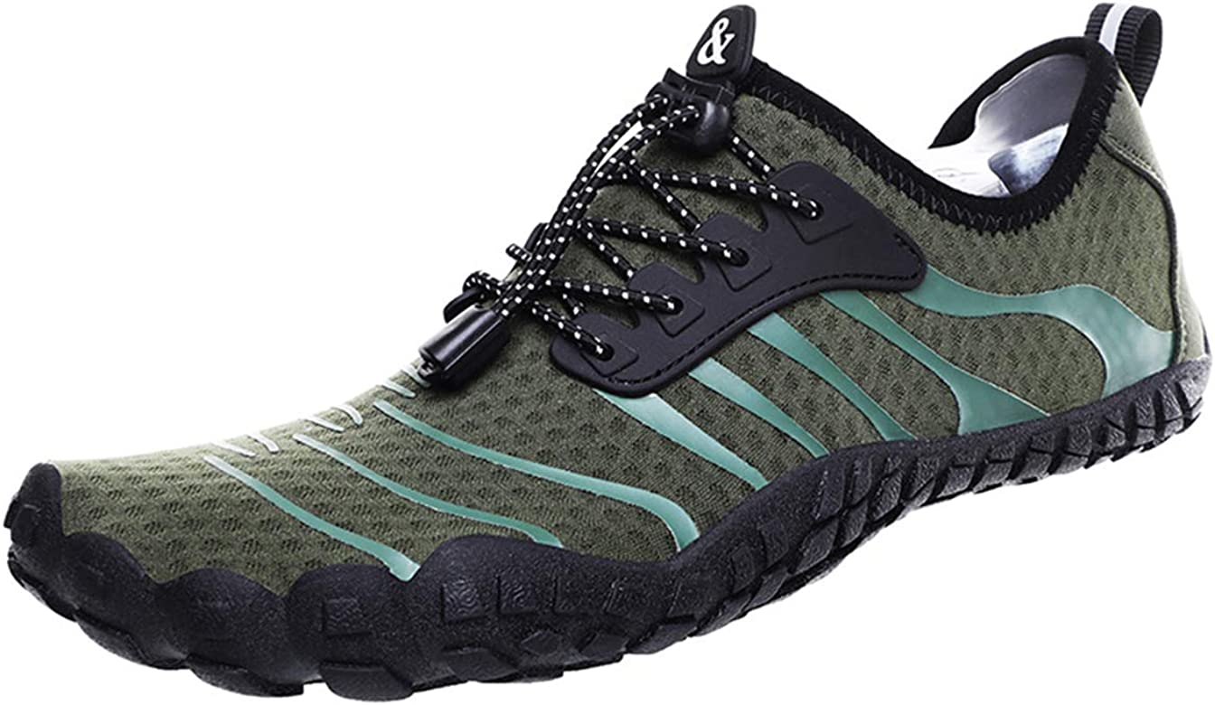 Water Sports Shoes for Men Quick Drying Aqua Shoes Breathable Drawstring Barefoot Swimming Shoes Men Summer Outdoor Beach Barefoot Shoes