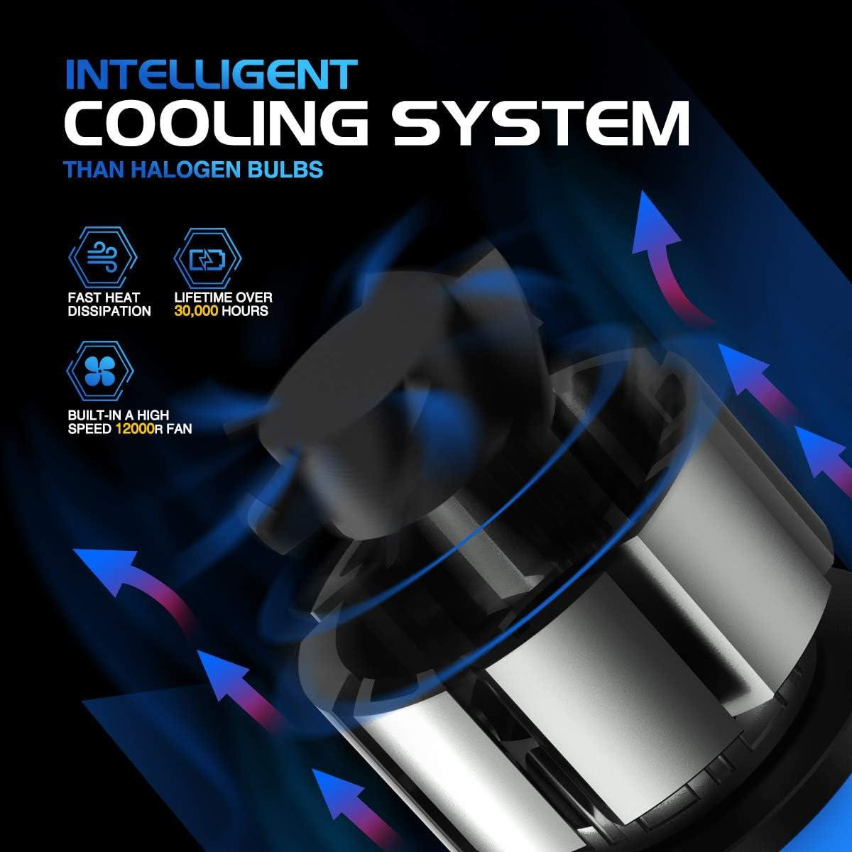 12 CSP Chips 6500K Xenon White Extremely Bright Light 12V. 2 Pcs//Kit ZonCar H11 // H8 // H9 // H16 Led Headlight Bulbs 2020