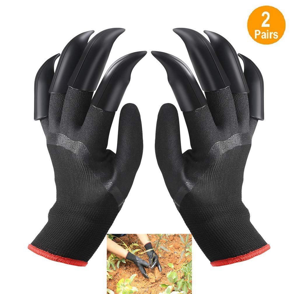 FX Garden Gloves with Claws Left and Right Hand, Home Gardening Genie Gloves Quick and Easy to Dig and Plant Nursery Plants,Best Gift for Gardener 2 Pairs