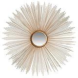 Safavieh MIR3002B Home Collection Gold Sun Burst Mirror,Gold