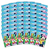 Bendon 43142-Amzb Minnie Mouse Coloring and Activity Book with Crayons, 48Count