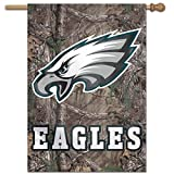 WinCraft NFL Philadelphia Eagles 83291010 Vertical Flag, 27'' x 37'', Black